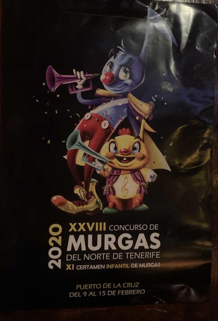 Poster der Veranstaltung zum 28. Wettbewerb der Murgas vom Norden Teneriffas