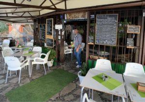 Die Cafeteria Delei té im Parque de los Lavaderos El Sauzal; Bilder: Roland Strobl