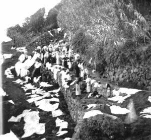 Historische Aufnahme des Waschplatzes Los Lavaderos in El Sauzal; Foto: Ayuntamiento El Sauzal