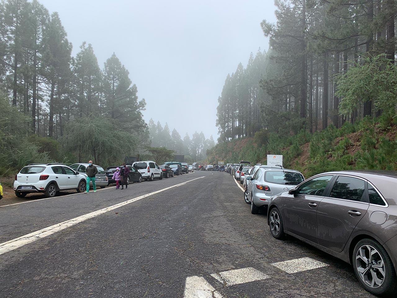 Am Straßenrand geparkte Autos